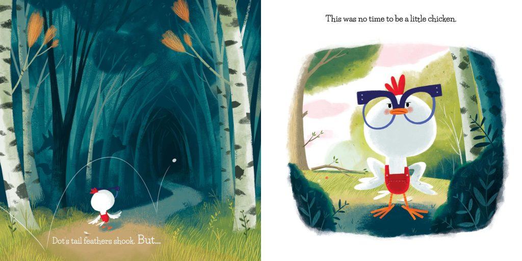int illustrations by Dan Taylor from A Little Chicken written by Tammi Sauer