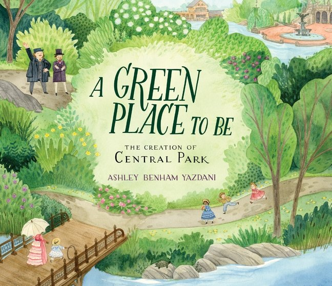 book cover illustration from A Green Place to Be by Ashley Beham Yazdani