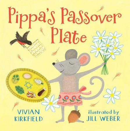book cover illustration by Jill Weber from Pippas Passover Plate by Vivian Kirkfield