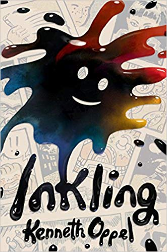 bk cover art from Inkling by Kenneth Oppel