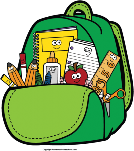Back-to-school free clipart of backpack