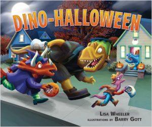 dino halloween book cover