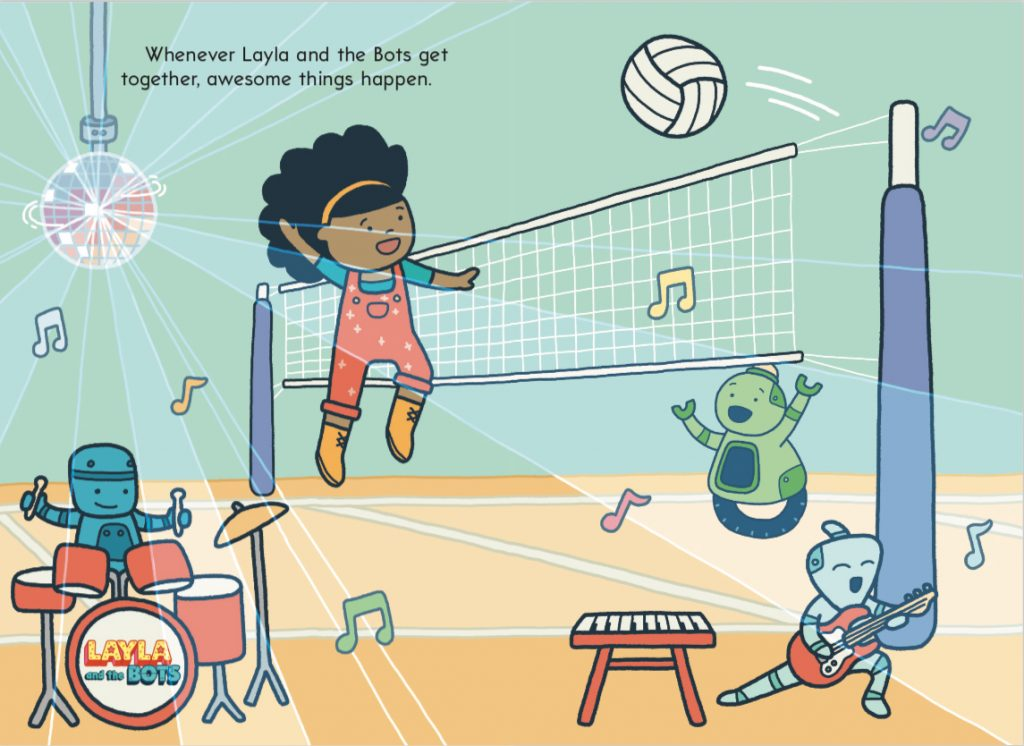 Laylaandthe Bots in volleyball
